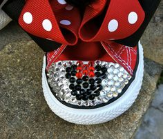 Minnie Mouse Swarovski Converse Infant/Toddler by TuTooCuteTutus