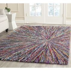 Safavieh Handmade Nantucket Multi Cotton Rug (5' x 8') (NAN319A-5), Size 5' x 8'