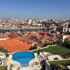 Vista do Hotel The Yeatman em Vila Nova de Gaia. Maravilhosa  #travel #portugal #porto #theyeatman by experimentoviagem
