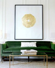 emerald green couch via @mystylevita