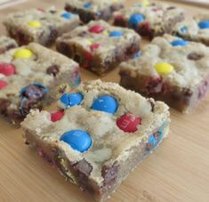 Chocolate Chip M&M Blondies. The perfect mixture of a cookie and brownie! Rich, chewy bars loaded with brown sugar that gives off a delicious caramel flavor. Loaded with m&m's and chocolate chips these are perfect!