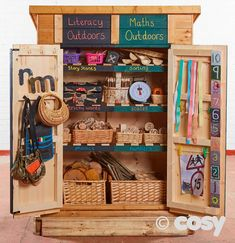 27 ideas for outdoor storage eyfs Eyfs Outdoor Area, Outdoor Play Areas, Outdoor Learning Spaces, Outdoor Education, Outdoor Classroom, Outdoor School, Eyfs Classroom, Outdoor Nursery, Preschool Garden