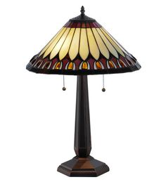 "Meyda 138579 Tiffany Style Stained Glass Tuscaloosa Table Lamp 24.5"" H #Meyda #StainedGlass"