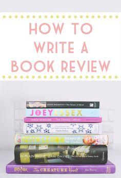 5 tips for writing book reviews