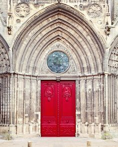Red Door Photograph, French Gothic Cathedral, French Country Travel Art Print, France Fine Art Print - Bayeux Cathedral on Etsy, $16.52 AUD