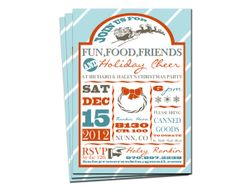 Customizable Christmas/Holiday party by HaleyRoseDesigns on Etsy, $14.00