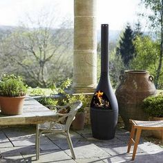 The elegant Kamino Outdoor Fireplace is shaped in cast iron and will create a real focus of attention in your outdoor space. It can be used for both heating and cooking