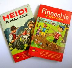60s Pinocchio, Heidi Wonder Read Aloud Books SC Vintage Children