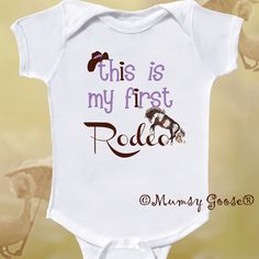 Funny Girl Cowboy Onesie Funny Baby Girl Onesie by MumsyGoose, $14.95