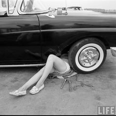Retro Hot Rod Girls | ... of old school pics on an all girl hot rod club since i like cars and