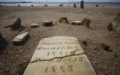 Drought in Texas exposes forgotten cemeteries and towns usually hidden under 20-30 feet of water.