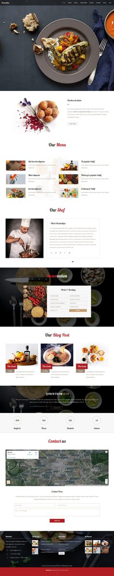 Musakka is clean stylish Responsive #Muse Theme for #Restaurant, cafe or #food cuisine #website. Download Now!