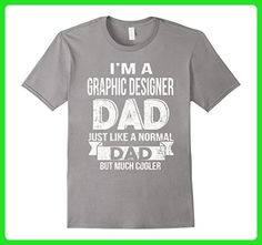 Mens I'm a cooler Graphic Designer Dad funny t shirt Small Slate - Relatives and family shirts (*Amazon Partner-Link)