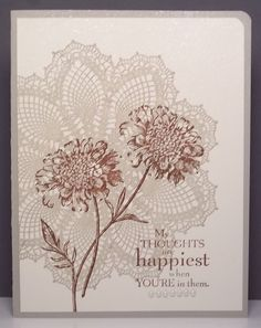 hello doily stampin up - Google Search