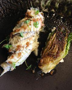 Saltbaked greenback flounder, roast lettuce, ricotta, preserved lemon and anchovy. So good - hopefully it will become a regular on the menu #boathousesydney #chefcolinbarker