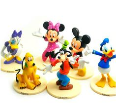 EBAY - 6PCS MICKEY MOUSE CLUBHOUSE $12.00 including s/h  [Figure Set Mickey Minnie Goofy PVC TOY Cake Topper #Disney]