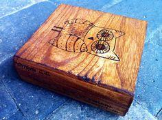 WoodBurned Box by TurquoiseRoots on Etsy, $16.99