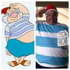 DIY - How to make a Mr Smee costume.  Mr Smee is Captain Hooks first mate and is a Disney staple.  Perfect costume for Mickeys Not So Scary Halloween Party / MNSSHP at Walt Disney World.