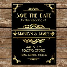Roaring '20s Gatsby-Inspired Save the Date ($10): Set the theme for your wedding right away with these '20s-inspired save the dates. Your guests will be super pumped to party in style with you.