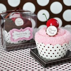 Sweet Treat Towel Cupcake Favors from Wedding Favors Unlimited
