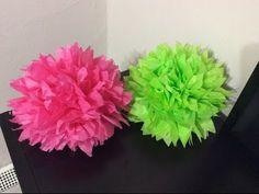 Videos para tus fiestas infantiles: Pompones de papel crepe