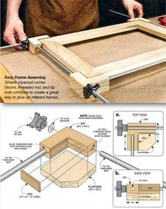 DIY Frame Clamp - Clamp and Clamping Tips, Jigs and Fixtures | WoodArchivist.com