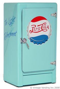 find vintage/antique ice box. paint it.