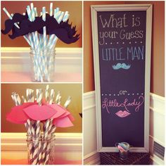 Cute idea for a gender reveal party...