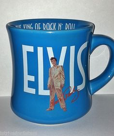 Elvis Presley The King of Rock n' Roll Signature Collectible Coffee Cup Mug