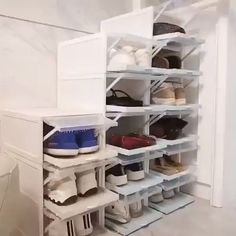 Drawer Type Shoe Box Our shoe storage boxes have drop front doors so you can easily access your shoe Home Decor Furniture, Diy Home Decor, Diy Decoration, Folding Furniture, Shelf Furniture, Furniture Makeover, Decor Ideas, Diy Room Ideas, Diy House Ideas