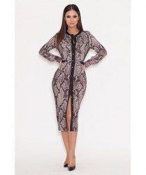 Genese London Snake Print Dress