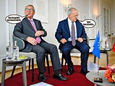 Jean-Claude Juncker und Johann Schneider-Ammann gestern in der Villa Hatt in Zürich.