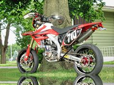 Street legal Honda CRF450R.