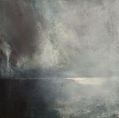 """ØRNULF OPDAHL, """"Havlys"""" 2004 > I love the texture of this. It looks like the sea with an approaching storm to me."""