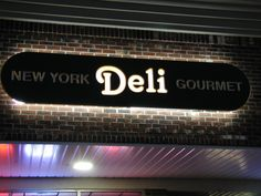 PVC Carved Exterior Business Sign.  Make your business standout.  Call us today for more information 631-757-5655. #deli #pvc #carved #signs