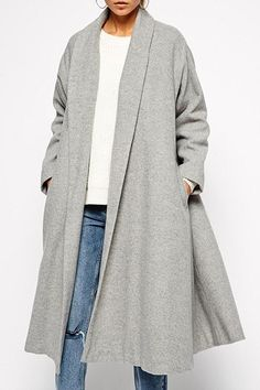 Stylish Turn-Down Collar Solid Color Loose Wool Coat For Women