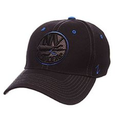 NHL New York Islanders Black Element Stretch Fit Hat [M/L] - The Skybox Store