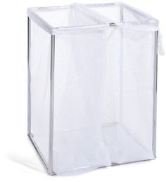 Amazon.com: The Bag Stand 2710 CHRMesh Steel-Framed Chrome Hamper with Removable Mesh Laundry Bags, Double: Home & Kitchen