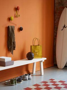 Nytt fargekart.... - LADY Inspirasjonsblogg, LADY 10431 Vital Basement Inspiration, Interior Inspiration, Design Inspiration, Orange Interior, Best Interior, Interior Design, Hallway Colours, Decoration Entree, Tropical Bedrooms