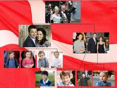 hrhroyalty:  Danish Royal Family Chart-Queen Margrethe and Prince Henrik; Frederik and Mary with children Christian, Isabella, Vincent and Josephine; Joachimw with first wife Alexandra and children Nikolai and Felix, and second wife Marie and children Henrik and Athena