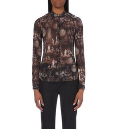 TED BAKER - Chandelier-print semi-sheer shirt | Selfridges.com
