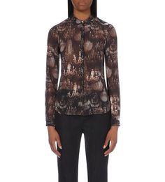 TED BAKER - Chandelier-print semi-sheer shirt | Selfridges.com