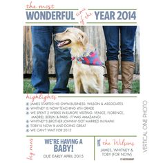 Most Wonderful Year in Review Holiday Photo Card | KateOGroup