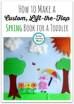 Make a Custom Lift the Flap Spring Book for a Toddler + Custom Lift the Flap Spring Book for a Toddler + Simple paper collage ideas for kids Homemade Books for Babies: Lift the Flap Books DIY Lift the flap kids book Book Making Ideas for Toddler Craft Projects For Kids, Crafts For Kids To Make, Art For Kids, Craft Ideas, Play Ideas, Homemade Books, Spring Activities, Toddler Activities, Learning Activities