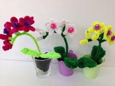 Pipe Cleaner Orchid, DIY tutorial, #15, kids crafts (モールアート)