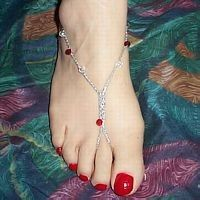Fire and Ice Barefoot Sandals Silver or Gold Thread  Shoe Size needed