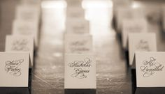Like the script of the place cards.