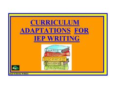 This packet contains information regarding adaptations for use with your classroom curriculum.****************************************************************Uses may include:Lists can also help to focus an IEP team on what the student needs in the classroom, Special Education teachers can will find these lists useful when meeting with Regular Education teachers to plan for students.If students are capable, or old enough, they be also be involved in determining which adaptation will help…