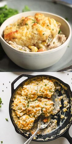 Biscuit Topped Vegetarian Pot Pie - A creamy jackfruit and veggie pot pie topped with the best buttery homemade drop biscuits! Biscuit Topped Vegetarian Pot Pie - A creamy jackfruit and veggie pot pie topped with the best buttery homemade drop biscuits! Vegetarian Recipes Videos, Vegetarian Recipes Dinner, Veg Recipes, Vegetarian Cooking, Vegan Dinners, Cooking Recipes, Healthy Recipes, Chicken Recipes, Healthy Chicken