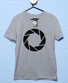Aperture Science Logo T Shirt - Sport Grey / Small